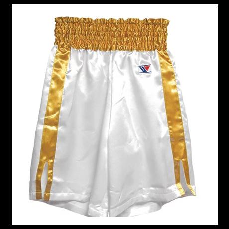 Winning Boxing Pants, Trunks long type White × Gold F-5-G
