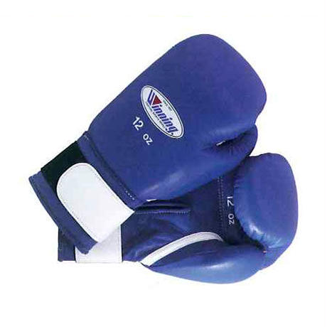 Winning Boxing gloves amateur training gloves Velcro tape type 12oz Blue / Red AM-12