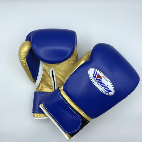 Winning Boxing gloves professional MS-200B Velcro tape type 8oz Blue × Gpold