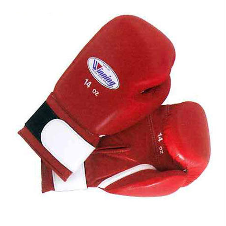 Winning Boxing gloves amateur training gloves Velcro tape type 14oz Blue / Red AM-14