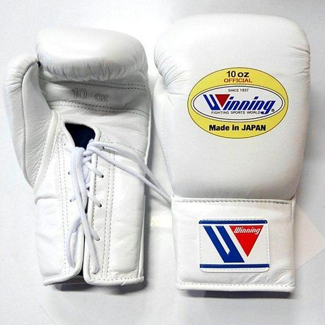 Winning Boxing gloves professional Lace up type 10oz Basic color Red /Blue / Black / White MS-300