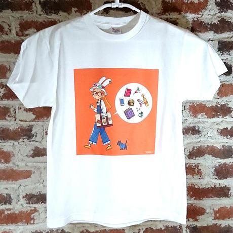 「おでかけセット」 サナダシン オリジナル Tシャツ ホワイト