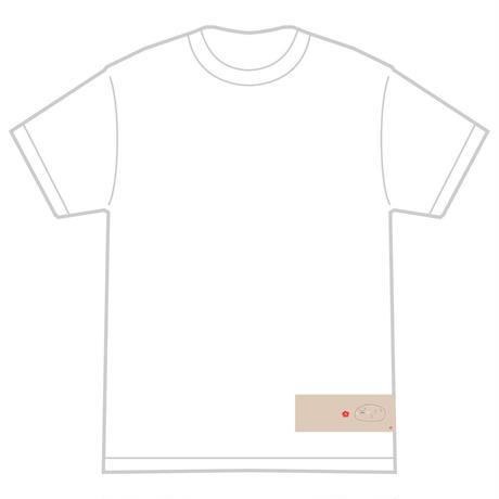 「ウメの花とポヨシシ」 おかしなせかい オリジナル Tシャツ ホワイト