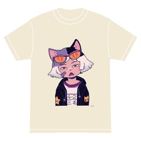 「ミケ」 サナダシン オリジナル Tシャツ アイボリー