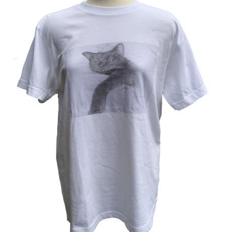 「Lazy cat」ねこバヤシ みゃ オリジナルTシャツ