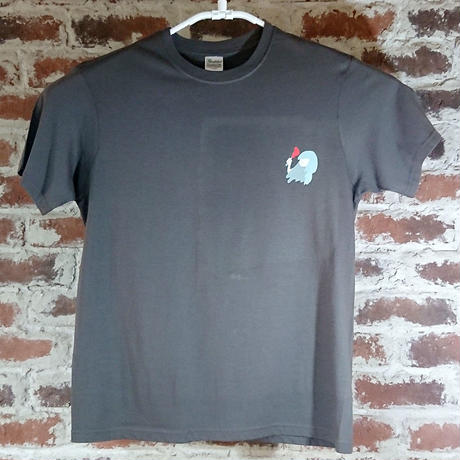 「pssst」 もろほししづく オリジナル Tシャツ チャコール