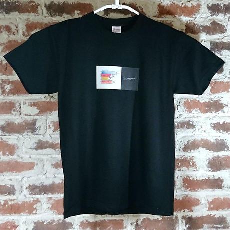 「ころがるイノシシのように」 おかしなせかい オリジナル Tシャツ ブラック