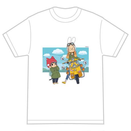 「モッズスクーター」 サナダシン オリジナル Tシャツ ホワイト