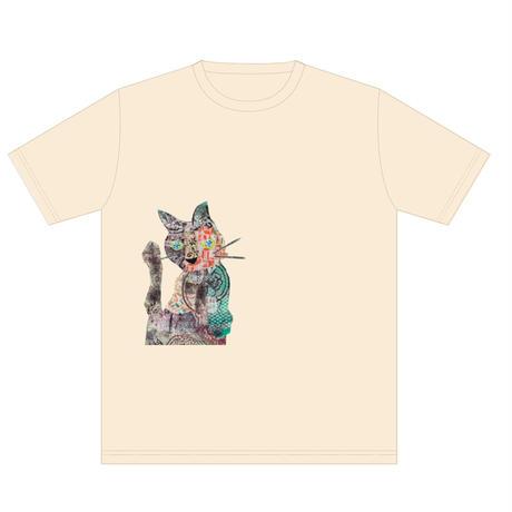 「くろさびネコT」ねこバヤシ みゃ オリジナルTシャツ / アイボリー