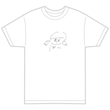 「pssst」 もろほししづく オリジナル Tシャツ ホワイト