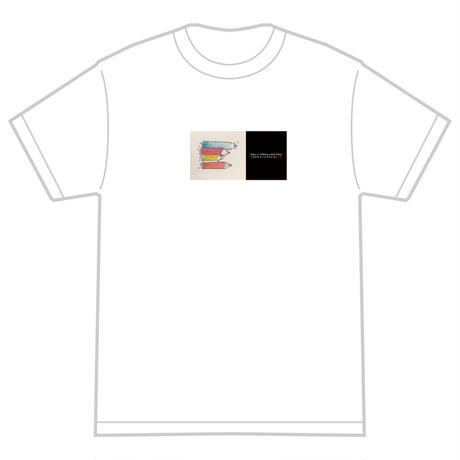 「ころがるイノシシのように」 おかしなせかい オリジナル Tシャツ ホワイト