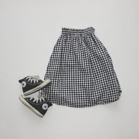 gingham check skirt(kids)