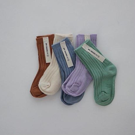 powder color socks