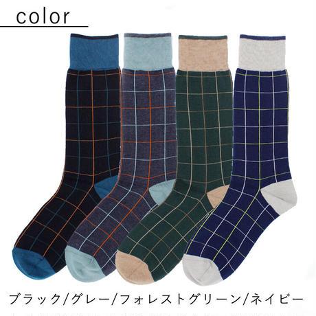 SI05 日本製・紳士 抗菌・防臭 チェック柄ソックス【シンシ‐sinsi‐】