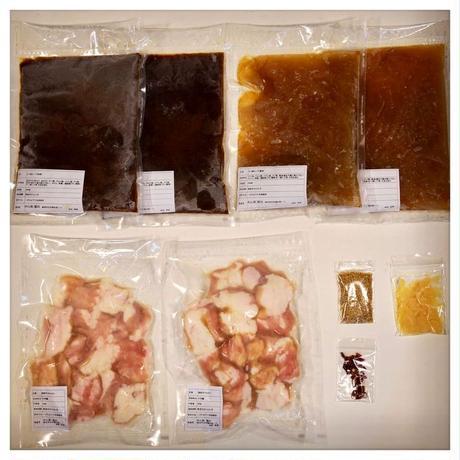 もつ鍋(醤油、味噌)セット4〜6人前  (〆蕎麦は醤油のみです)     (〆うどんはどちらもOK)