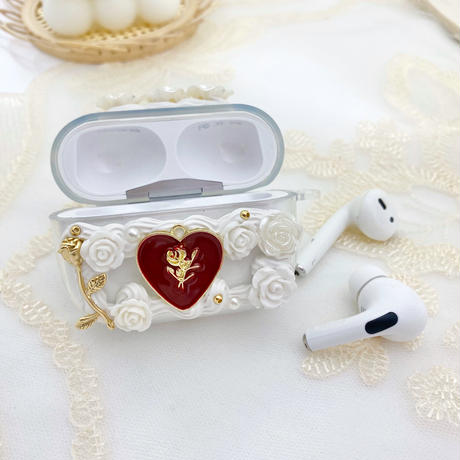Rose & heart♡Airpods case【P0060】