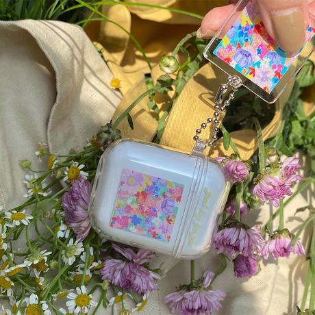 Flower clear Airpods case【P0033】