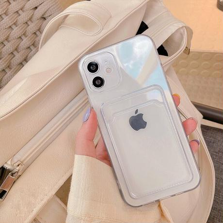 Clear poket iPhone case 【C0043】