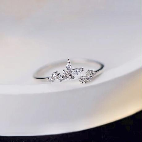 Butterfly silver ring 【R0008】