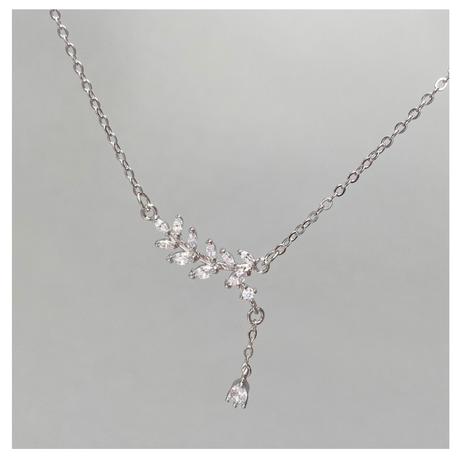 Silver leaf necklace【R0128】