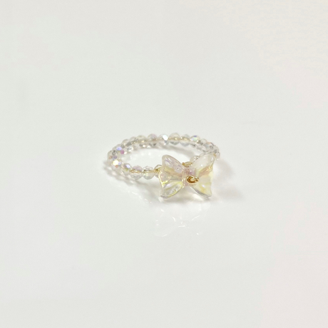 Clear butterfly ring【R0084】