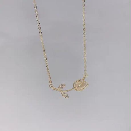 Clear Tulips necklace【R0054】