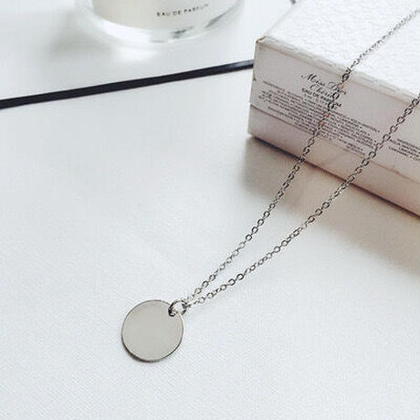 Simple coin necklace 【R0015】