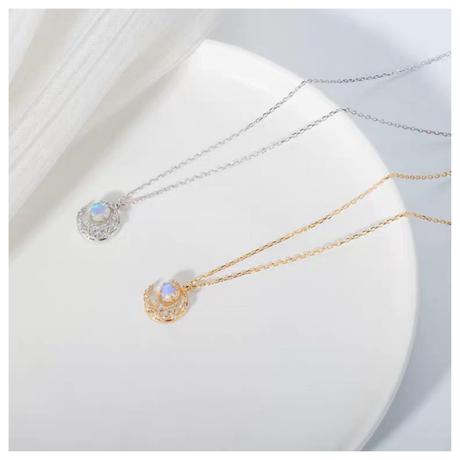 moon necklace【R0055】