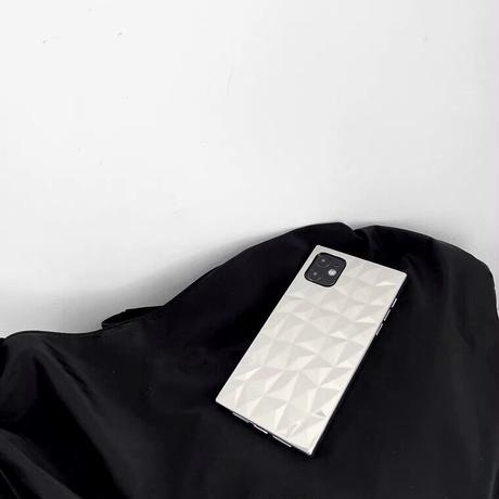Cut mirror iPhone case【E0149】