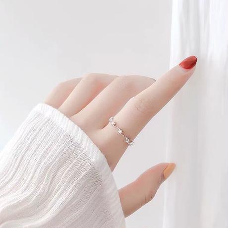 Star line ring【R0034】