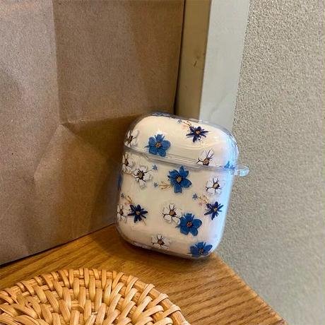 Flower clear Airpods case【P0064】
