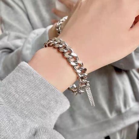Silver chain bangle【R0063】