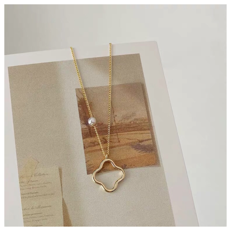 curved line necklace【R0005】