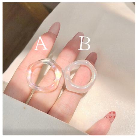 Clear aurora ring【R0045】