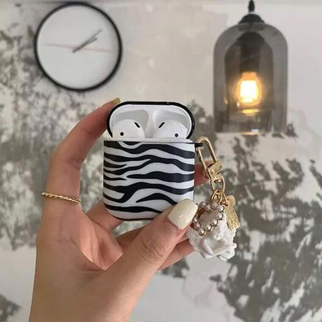 Zebra pattern Airpodsケース【P0032】