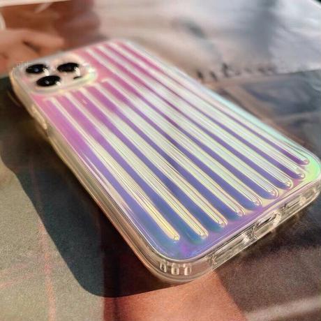 Clear aurora line case【C0041】