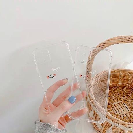 ニコちゃんクリア♡スマホケース【C0111】