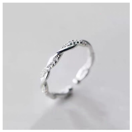 Helix silver ring 【R0018】