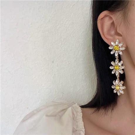 Clear daisy pierce 【R0021】