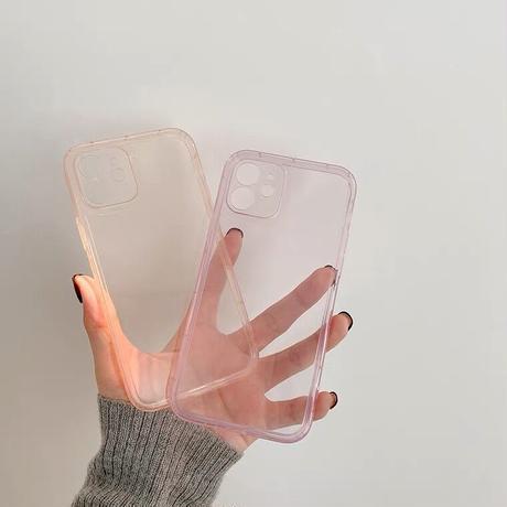 Simple pale clear case【C0025】