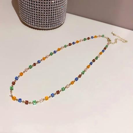 Clear beads necklace【R0088】