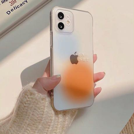 Sunset clear case【C0096】