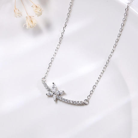 Butterfly line necklace 【R0022】