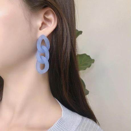 Clear blue chain pierce 【R0106】
