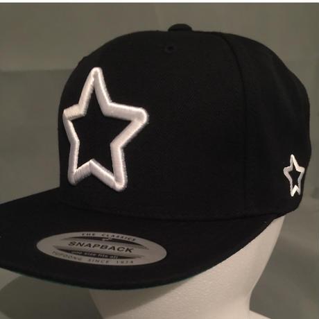 2016mobstar cap ブラック 極太ホワイトスター