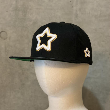 double star cap white & gold