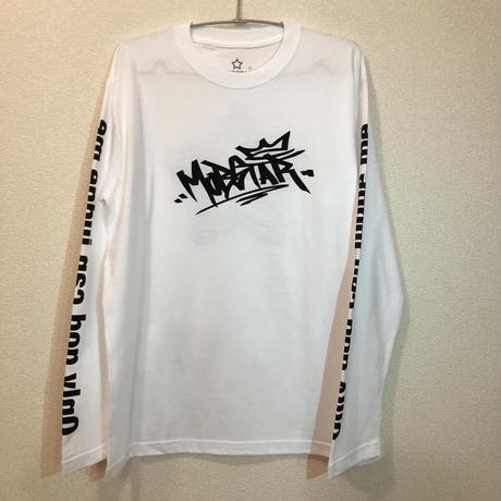 MOBSATR logo ロングスリーブTシャツ white