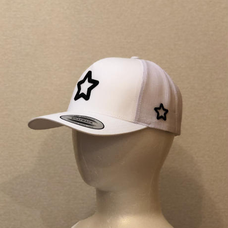 mobstar white mesh cap
