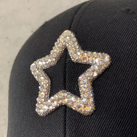 【受注】MOBSTAR SWAROVSKI CAP BLACK