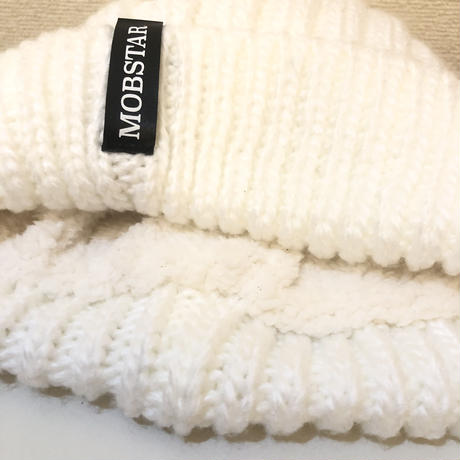 MOBSTAR KNIT CAP WHITE